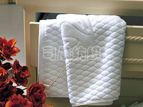 酒店提花菠萝纹地巾
